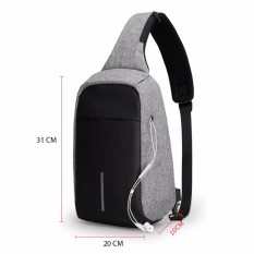 Tas Anti Maling Slempang Non USB With Port Earphone Waterproof