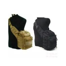 Tas Army Selempang Tactical Pria Type 803 Import (Side Bag, Militer, Polisi, Gurun, Tan, Pinggang, Kamera, Outdoor, Sport) Warna coklat