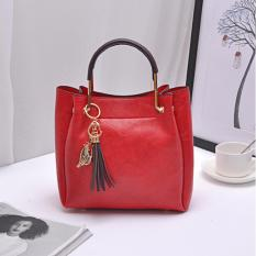 Tas Fashion 222# Import Bag Wanita Korean Style 2in1(ada Gantungan kunci)- RED
