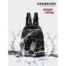 Tas Ransel 787P Bahan PR Fashion Import Korean Style Bagus Branded Wanita Remaja Dan Dewasa - Black