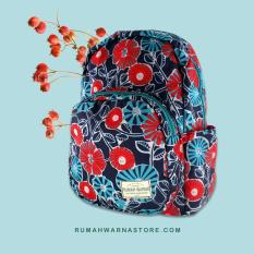 Tas Punggung Ransel Backpack Motif Rumah Warna - Alaric Bunga