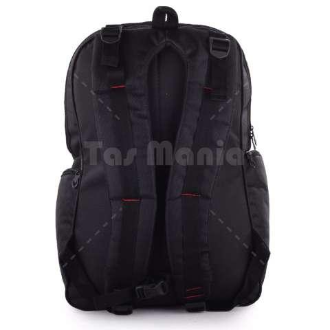 Tas Ransel Pria Gear Bag - Aligator Tas Laptop Backpack - Black + Raincover - Black