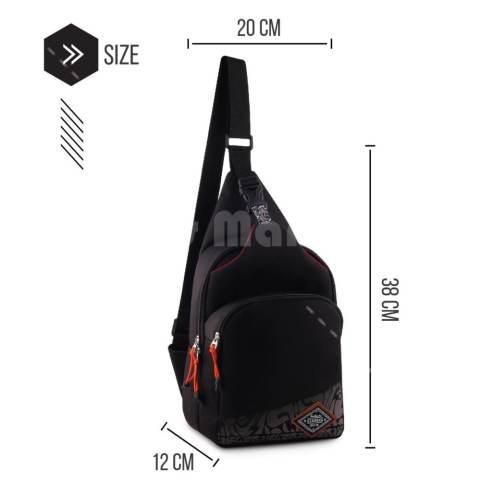 Tas Ransel Gear Bag - Cyborg X23 Tas Laptop Backpack - Black Red + Raincover +