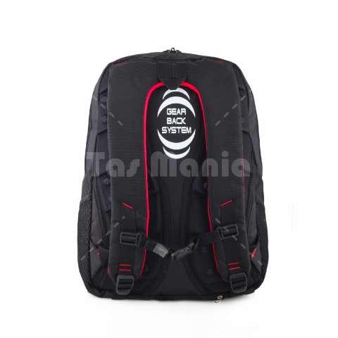 Tas Ransel Gear Bag X - Redemption Emboss Tas Laptop Backpack - Black + FREE Raincover