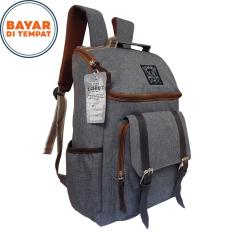 Tas Ransel Korea 17 Inchi 7700 Material Kanvas - Grey