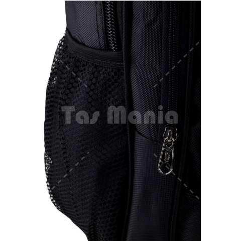 Tas Ransel Polo USA Black Cobra Tas Laptop Backpack + FREE Raincover Tas Pria Tas Kerja