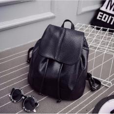 Korean Fashion Style Tas Ransel Batam Wanita Shoulder Ransel Batam Backpack Hitam