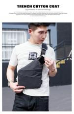 Tas Selempang Anti Maling Pria Slim Fit Anti Air - Grey