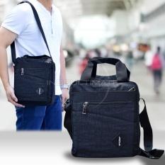 Tas Selempang Pria Keren Jinjing 2in1 Real Picture Multifungsi / Selempang / Slempang / Sling Bag / Messenger Shoulder Bag JSL-A16 - Black