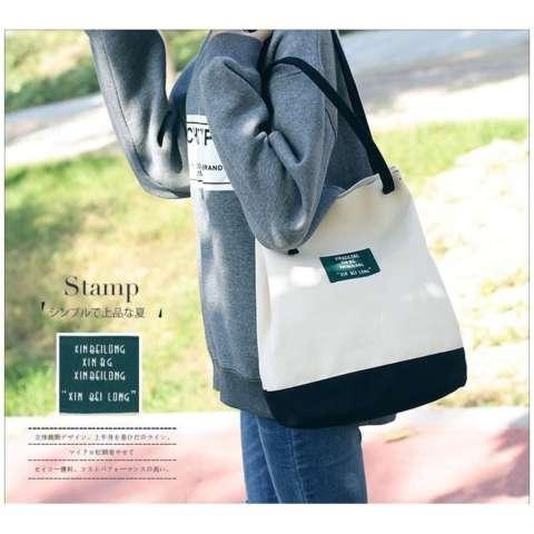 Jual Tas Serut Handbag Totebag Canvas Import Korea Cs 033bl Black Harga Rp  70.000 0ab97f21bf