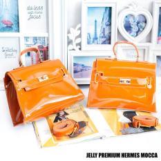 Tas Wanita Sling Bag Jelly Premium Hermes - Mocca