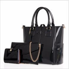 Korean Fashion Style Tas Wanita Batam Tote Bag 3 in 1 - Black