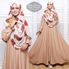 Tekken Fashion - Gamis Syar'i Balotelly Bulu Polka choco