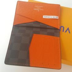 Terbaru Lv Card Wallet Hitam Dompet Kartu Holder Kulit Asli Louis Vuitton - Kdstr