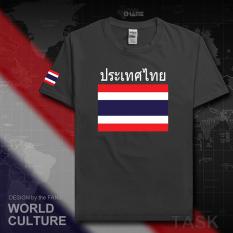 Thailand Baju Seragam Tim Katun Baju Sepak Bola T-shirt Baju Bola Penggemar Bola (Lengan pendek warna karbon)