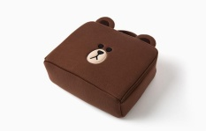 The heat in Korea sells lin Brown the bear a kind of insect Li duck the cosmetic bag wash Shu to wrap large to receive to wrap a square a type handbag female(stock on hand)(large Brown bear 240*180)