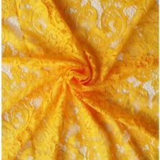 Tiara Kain Etnik Bahan Kebaya Kain Brokat/Lace SemiPrancis Motif Mawar (Kuning)