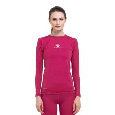 Tiento Baselayer Baju Kaos Ketat Manset Lengan Panjang Pink Fanta Rashguard Compression Base Layer Olahraga Lari Sepak Bola Futsal Voli Running Renang Diving Sepeda Golf Original