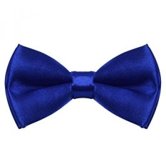 TINYHI Mens Pre-Tied Satin Formal Tuxedo Bowtie Adjustable Length Satin Bow Tie Royalblue One Size - intl