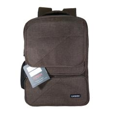 Toko Juragan-Carboni Tas Ransel Laptop Pria AA00026 Original - Coffee+ Raincover