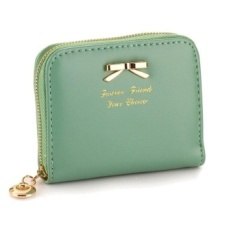 Top rate Jo.In Colorful Lady Lovely Purse Clutch Women Wallets Small Bag Puleather Card Hold Green
