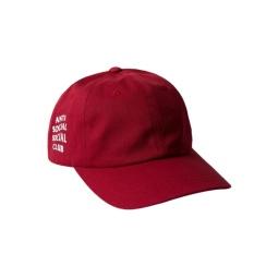 Topi basebal Anti Social Social Club Red Premium