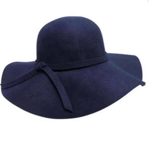 Topi Floppy Hat Pantai - Navy