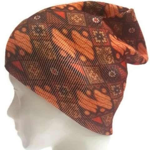Topi Kupluk beanie Sablon batik Dewasa BEA-BATIK