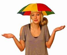 Topi Payung Headband Umbrella Hat Topi Mancing Golf Unik Outdoor Portable mini payung kepala