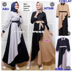 TotallyGreatShop Gamis Syari Pesta - Baju Kondangan Muslimah - Kebaya Pesta Modern - Maxy dress - Wisuda -  Fashion Busana Muslim Wanita - ihyusra