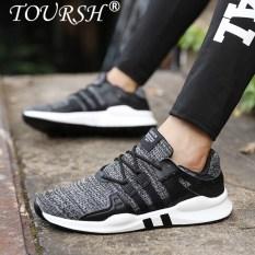 TOURSH Pria Kasual Sepatu Pria Sepatu Sneakers Berlari Sepatu Olahraga Shoes-Intl