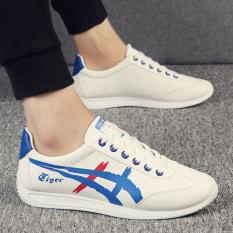 Sepatu Cortez Nike Musim Gugur Kasual Sepatu Korea Fashion Style Laki-laki (Putih dan biru) sepatu pria Sepatu kulit Sepatu kerja sepatu formal pria