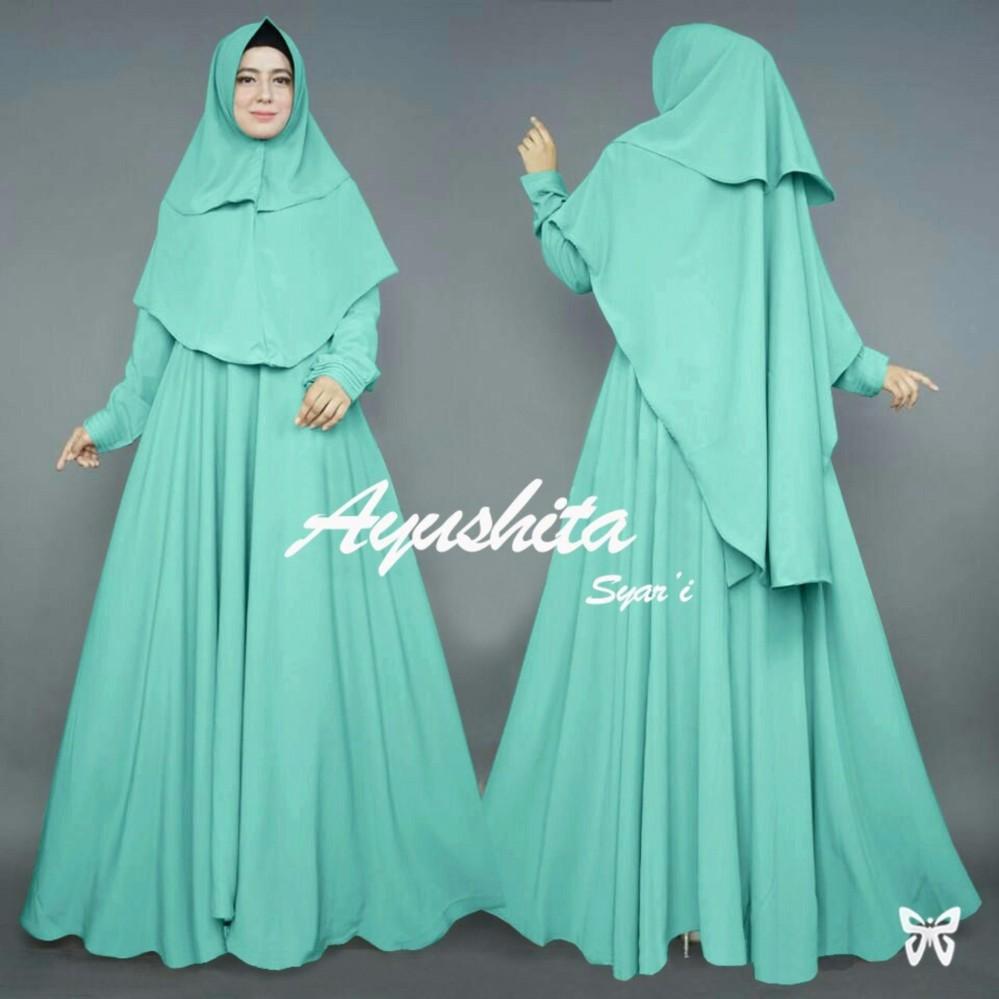 Plus bergo Gamis pesta - Baju gamis - Gamis wanita - Baju Muslim wanita terbaru - Maxi -