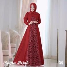 Baju muslim & Jumpsuit - Dress wanita - Gamis pesta - Baju gamis - Gamis wanita - Baju muslim wanita terbaru promo - Maxi kombi brukat - Pakaian wanita tradisional