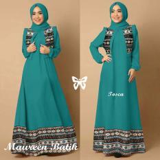 Trend Baju - Maxi Batik Pashmina Uk L - Tosca