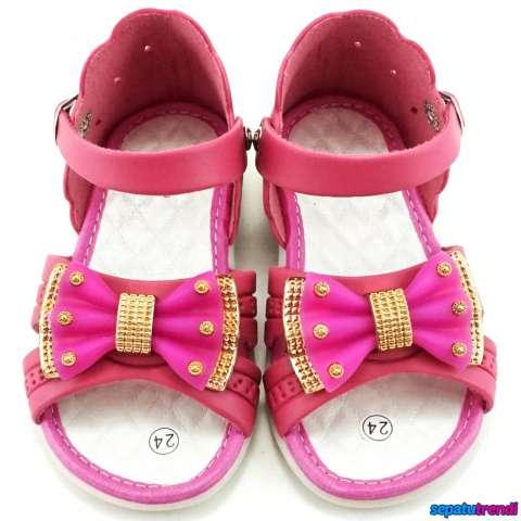 TrendiShoes Sandal Anak Perempuan Variasi Pita KX06 - Fuchsia