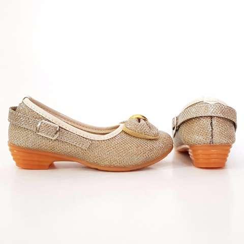 TrendiShoes Sepatu Anak Perempuan Glitter Pita Depan APPTDPN - Gold