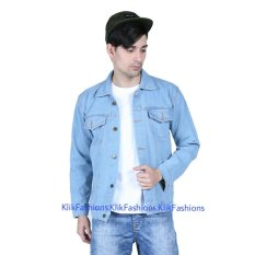Trucker Jaket Jeans Denim Cowo Bioblits Best Seller