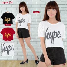 MichelleStore Kaos / T-shirt / Baju / Crop Top Hype White