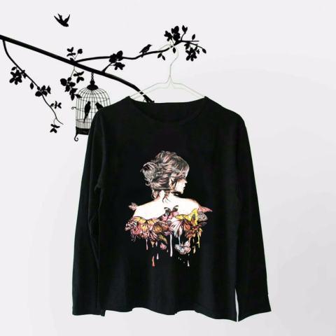 INC Tumblr Tee / T-Shirt / Kaos Wanita Body Girl - Hitam