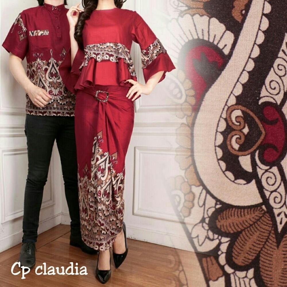 72d2d4d4d0 UC Couple Kemeja Batik Pria Muslim Kebaya KutuBaru Modern Dress Batik  Pasangan Mira 3in1 Rok Lilit
