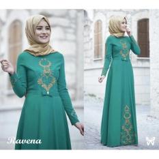 UC Gamis Terusan Maxi Ravina / Syari Simple Elegant / Baju Muslim Wanita / Kebaya Muslimah Modern (venara) SS - Tosca