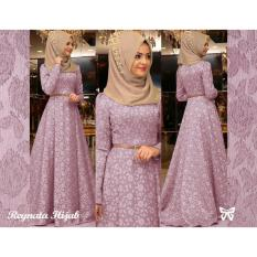 UC Maxi Hijab Dress Gamis Muslim Rey/ Set Terusan Maxi Hijab Gamis Syar'i