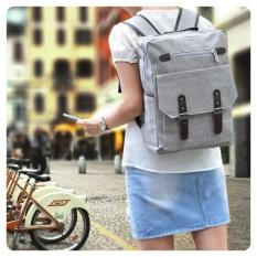 Ultimate Tas Pria JS-108 - Gray / Backpack Anak Cewek Sekolah Remaja Korea Import  Batam Murah Branded Cantik / Ransel Laptop Perempuan Wanita