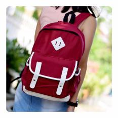 Ultimate Tas Pria / Wanita JS-8191 - Red / Tas Pria Ransel Backpack Sekolah Remaja Murah / Tas Cewek Korea Import Batam Murah Branded