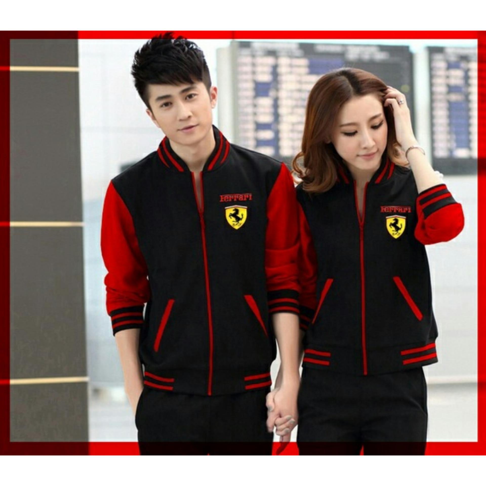 UC Jacket Couple Ferarri / Jacket Couple / Jaket Sepasang / Jacket Girl & Jaket Pria