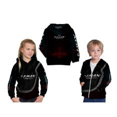 [Utama Media] Jaket Hoodie Sweater Anak Unisex NMAX 3D Printed Sublimation - Art 5