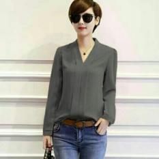 Vanessa blouse Blouse Lengan pendek/ Blouse Polos Cewek / Hem Kemeja Baju Wanita Fashion Bangkok / Blus Korean Style / Blouse Wanita Modern / blus wanita