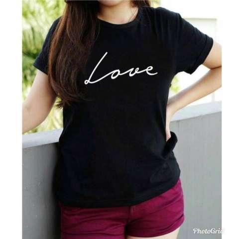 Vanessa Tumblr Tee / T-Shirt LOVE / T-shirt Wanita / Kaos Cewek / Tumblr Tee Cewek / Kaos Wanita Murah / Baju Wanita Murah / Kaos Lengan Pendek / Kaos ...