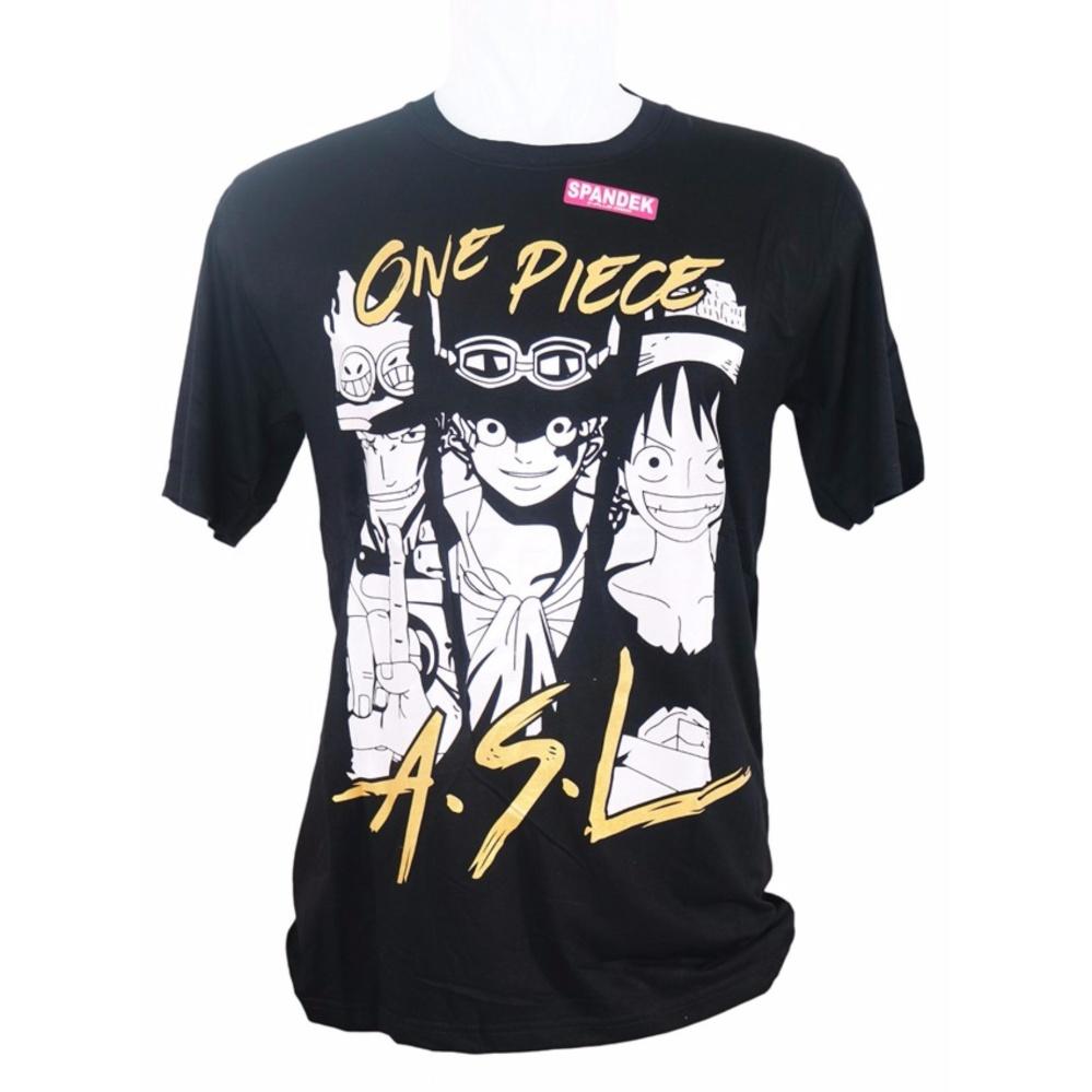 Size fit to L Vanwin - Kaos T-Shirt Distro Premium Anime One Piece ASL -  Hitam 5653db460d